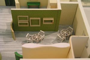 פינת ישיבה בתוך המודל